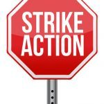 Strike Action Stop Sign